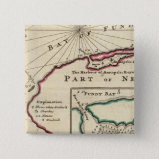 Bay of Fundy and harbour of Annapolis Royal 15 Cm Square Badge