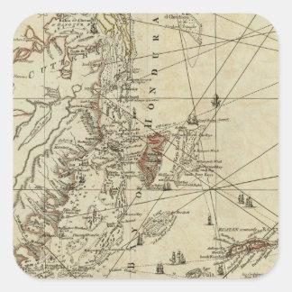 Bay of Honduras Square Sticker
