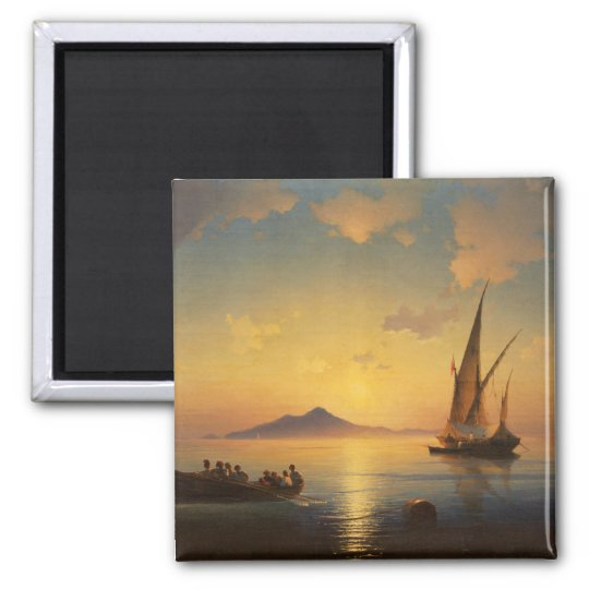 Bay of Naples Ivan Aivazovsky seascape waterscape Magnet
