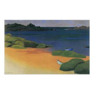 Bay of Tregastel, Vallotton, Vintage Impressionism Poster
