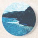 Bay On The Road To Hana Maui Abstract Coasters
