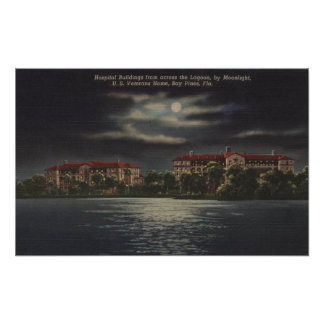 Bay Pines Florida - Moonlit View of Hospital Posters