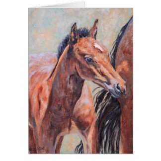 Bay Roan Foal All Occasion Greeting Card