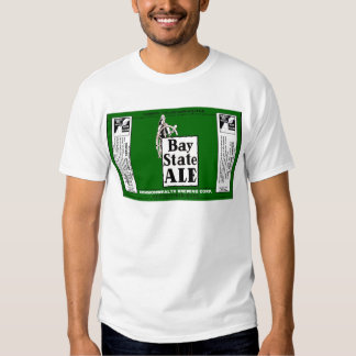 BAY STATE ALE BEER CAN DESIGN COMMONWEALTH BREWING SHIRT