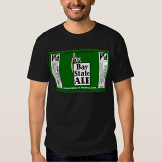 BAY STATE ALE BEER CAN DESIGN COMMONWEALTH BREWING TEE SHIRTS