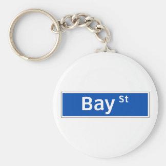 Bay Street Toronto Street Sign Key Chain