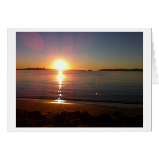 Bay Sunset Note Cards