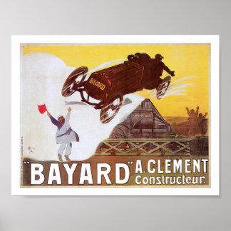 Bayard Race Car Vintage Art Print Poster