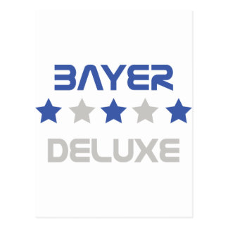 bayer deluxe icon postcard