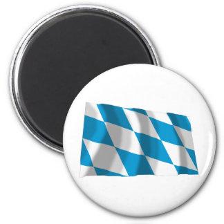 Bayern / Bavaria Flag (Lozengy Version) 6 Cm Round Magnet