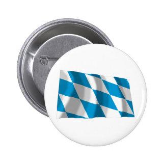 Bayern / Bavaria Flag (Lozengy Version) 6 Cm Round Badge