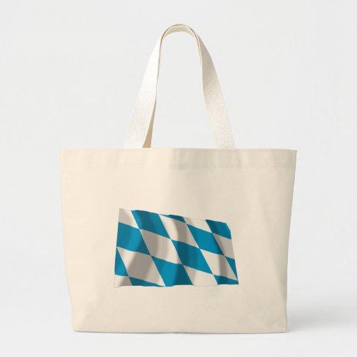 Bayern / Bavaria Flag (Lozengy Version) Canvas Bags