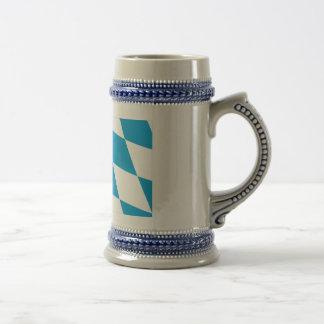 Bayern / Bavaria Flag (Lozengy Version) Beer Steins