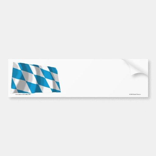 Bayern / Bavaria Flag (Lozengy Version) Bumper Stickers