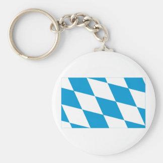 Bayern / Bavaria Flag (Lozengy Version) Basic Round Button Key Ring