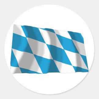 Bayern Bavaria Flag Lozengy Version Round Stickers