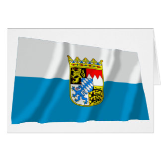 Bayern / Bavaria Flag with Arms Greeting Cards