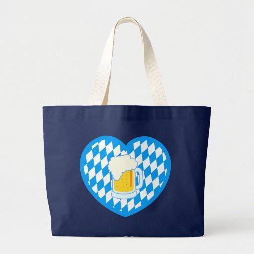 Bayern Bavaria Herz Bier heart beer Jumbo Tote Bag