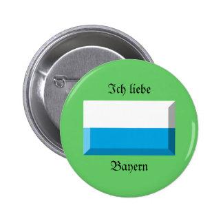 Bayern Flag Gem 6 Cm Round Badge