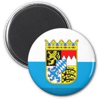 Bayern Flag Gem 6 Cm Round Magnet