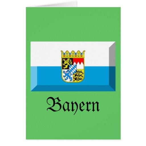 Bayern Flag Gem Greeting Card
