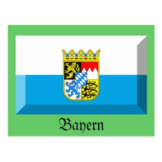 Bayern Flag Gem Postcard