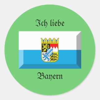 Bayern Flag Gem Round Sticker