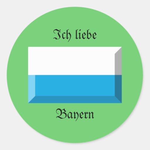 Bayern Flag Gem Stickers