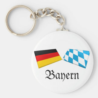 Bayern, Germany Flag Tiles Basic Round Button Key Ring