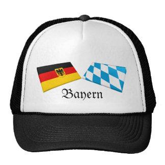 Bayern, Germany Flag Tiles Mesh Hats