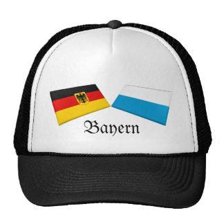 Bayern, Germany Flag Tiles Trucker Hats