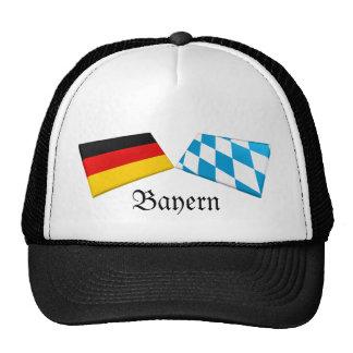 Bayern, Germany Flag Tiles Mesh Hat
