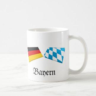 Bayern, Germany Flag Tiles Coffee Mugs