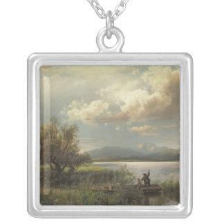Bayern Landscape, 1856 Silver Plated Necklace