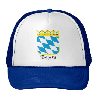 Bayern Wappen Bavaria Coat of Arms Mesh Hat