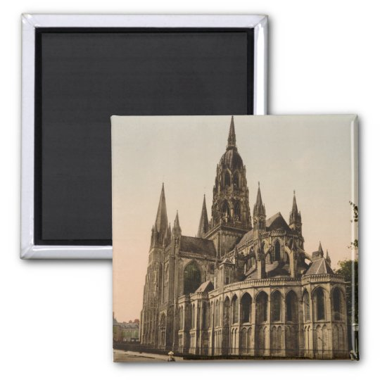 Bayeux Cathedral, Bayeux, France Square Magnet
