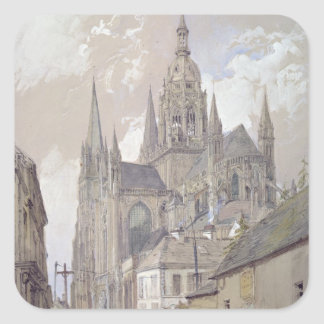 Bayeux Cathedral, View from the South East Square Sticker
