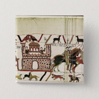 Bayeux Tapestry Earl Harold to Duke of Normandy 15 Cm Square Badge