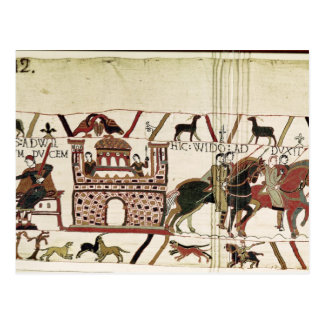 Bayeux Tapestry Earl Harold to Duke of Normandy Postcard