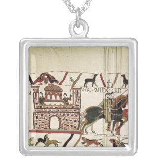 Bayeux Tapestry Earl Harold to Duke of Normandy Square Pendant Necklace