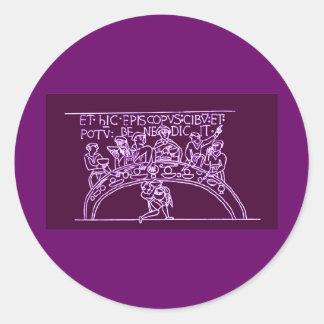 Bayeux Tapestry Round Sticker