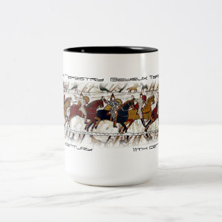 Bayeux Tapestry Scene Two-Tone Mug