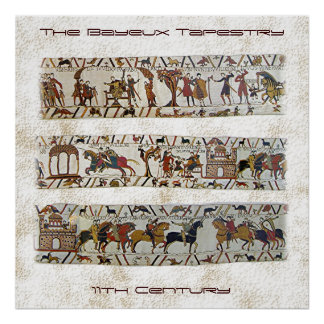 Bayeux Tapestry Scene Poster