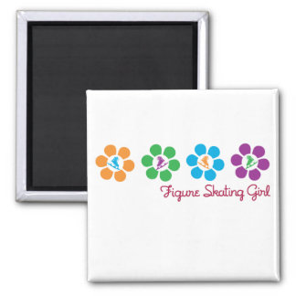 Bayflower Figure Skating Square Magnet