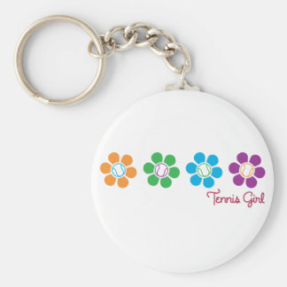 Bayflower Tennis Basic Round Button Key Ring