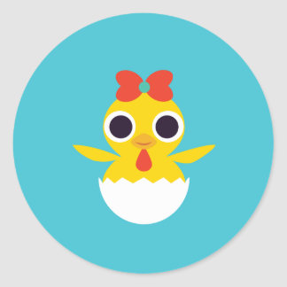 Bayla the Chick Classic Round Sticker