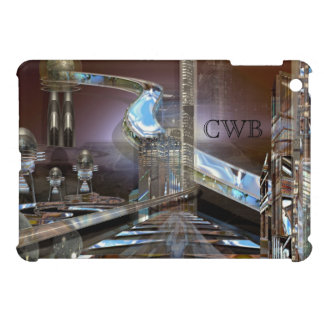 Bayleene Futuristic City  Monogram iPad Mini Cases