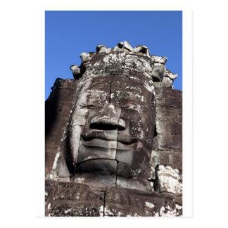 Bayon face sculpture Angkor Thom Siem Reap Post Cards
