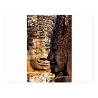 Bayon faces Angkor Kingdom Cambodia Postcard