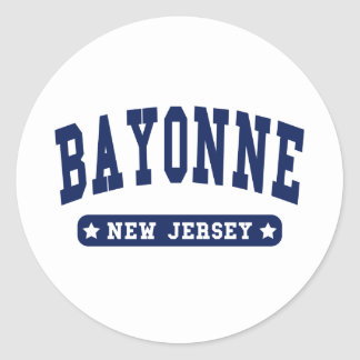 Bayonne New Jersey College Style t shirts Classic Round Sticker
